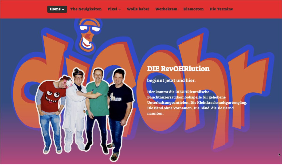 Website: DIEOHR - Gutelaunefunpunk