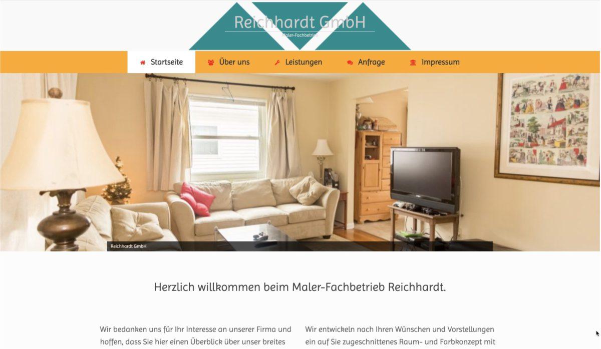 Website: Malerfachbetrieb Reichhardt GmbH