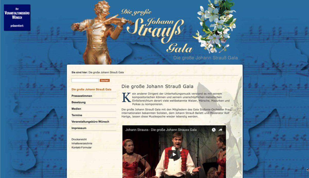 Website: Veranstaltungsbüro Wünsch: Die große Johann Strauß Gala
