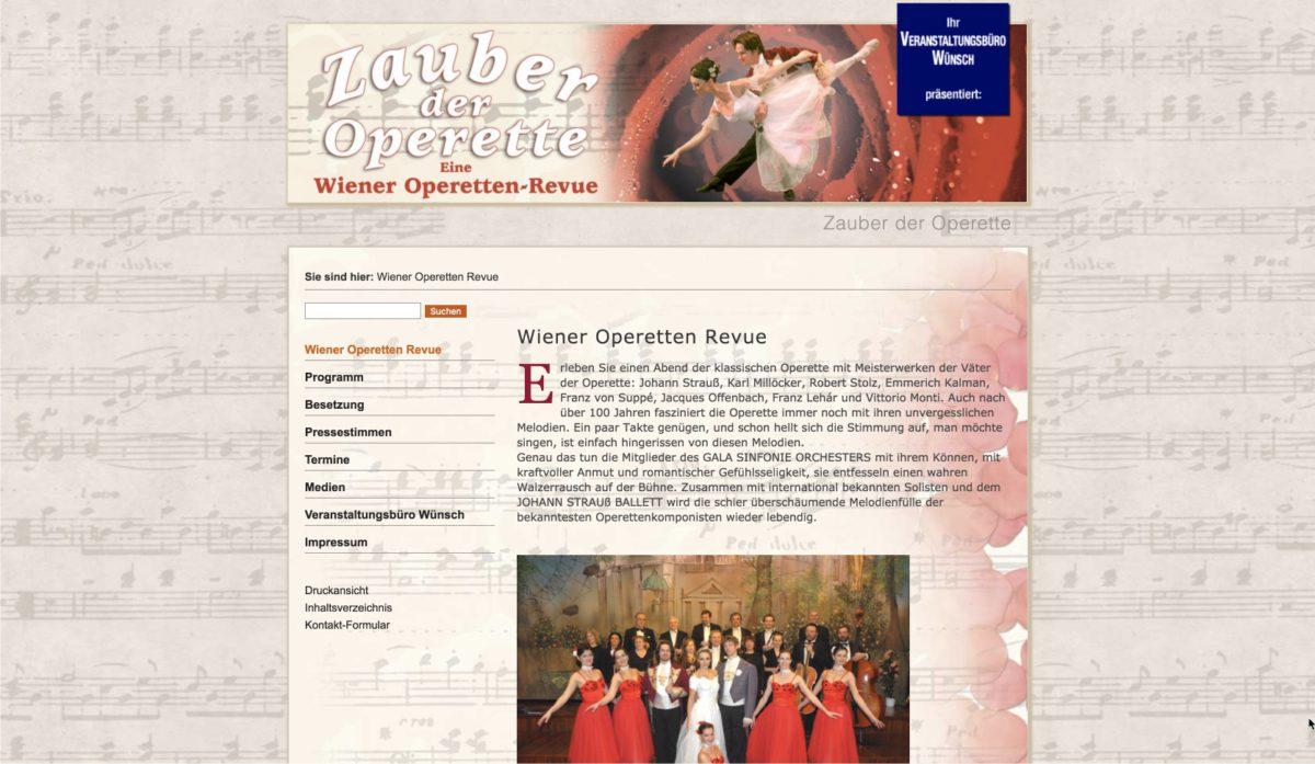 Website: Veranstaltungsbüro Wünsch: Zauber der Operette