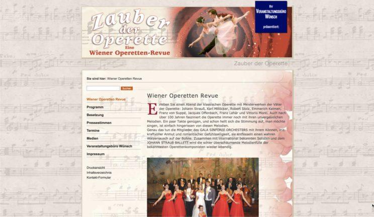 Zauber der Operette - Website